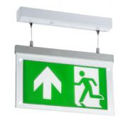 EMLSUS 2 Watt LED Suspended Double-Sided Emergency Exit Sign